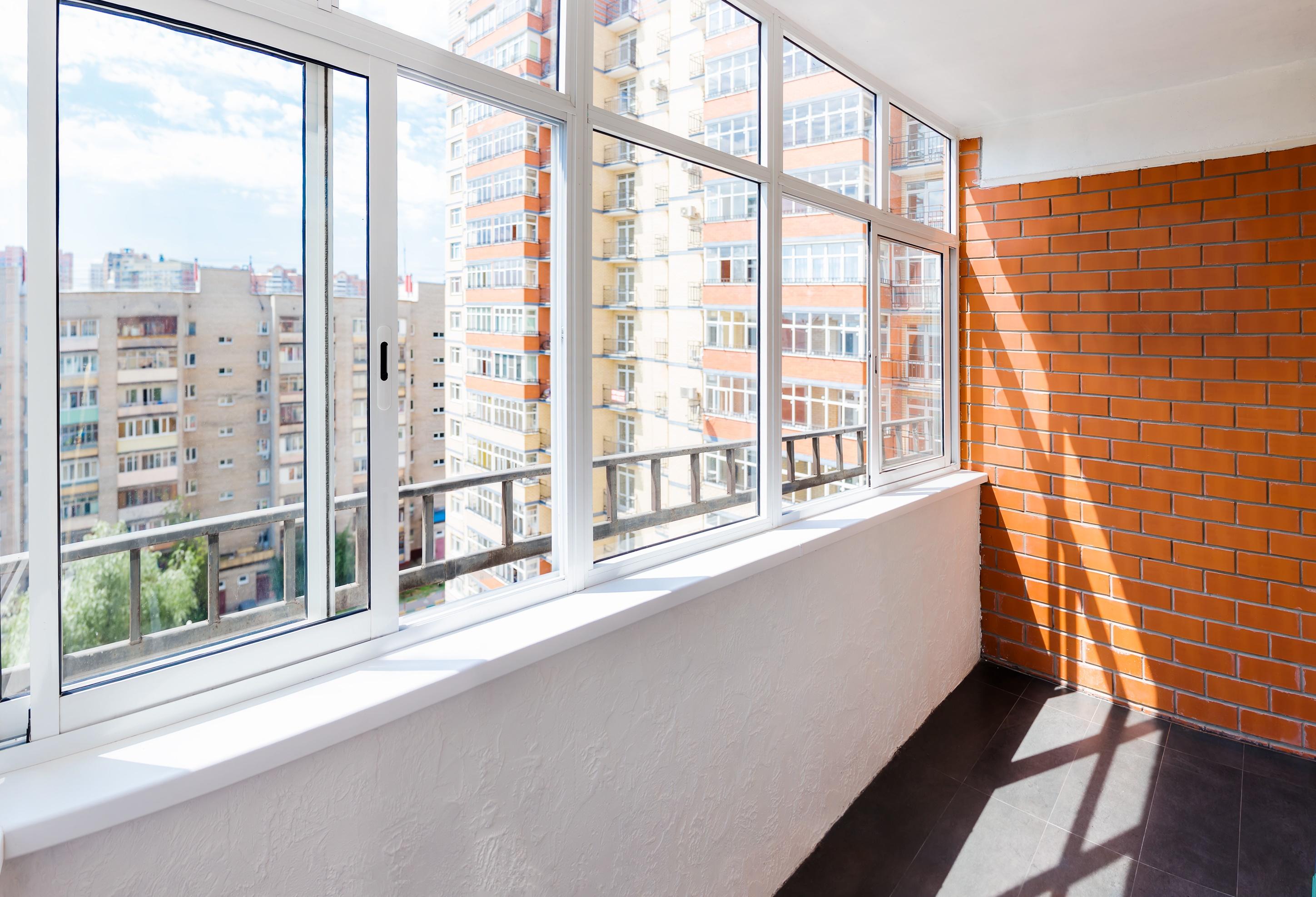 Glazed balcony
