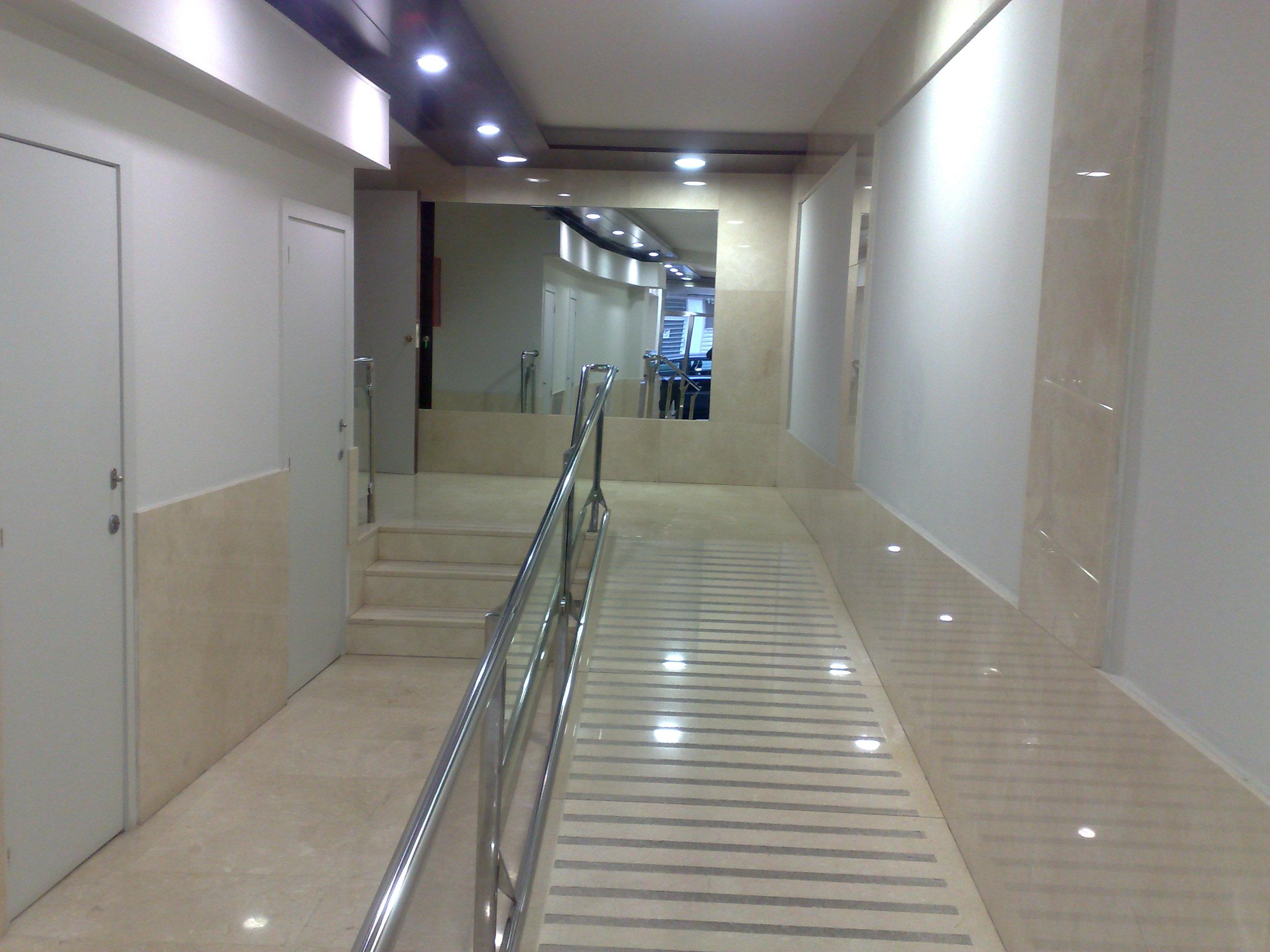 Detalle de la escalera finalizada