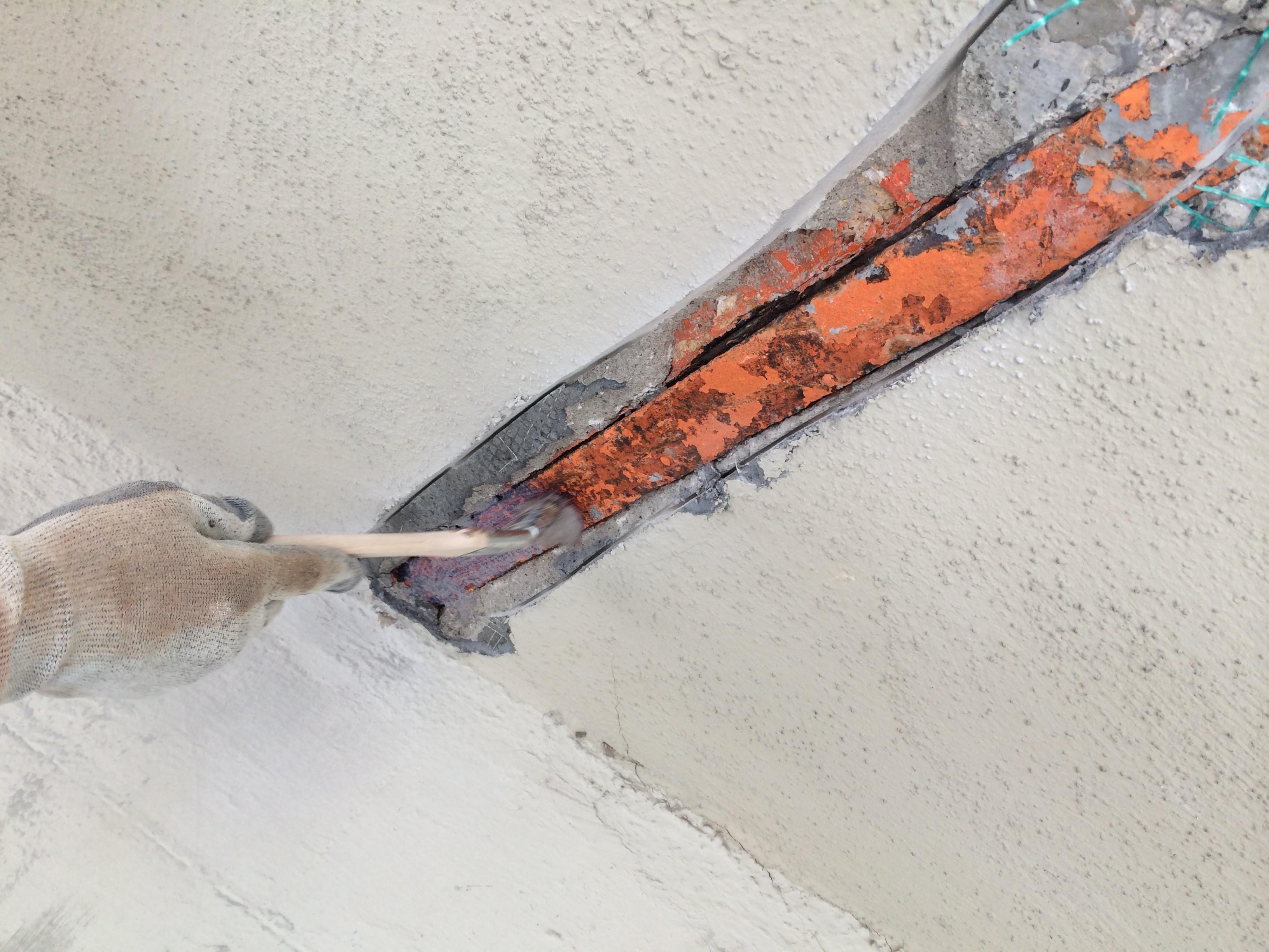 Detalles de la reparación fachada