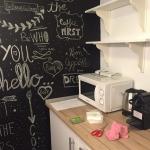 Detalle de la cocina-office finalizada