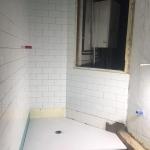 Foto del baño durante la reforma